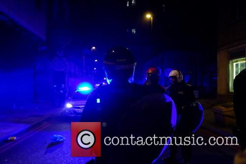 EXCLUSIVE Police shut down an illegal rave in...