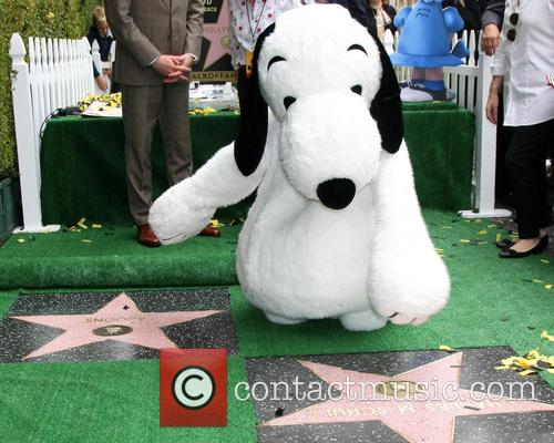 Snoopy With The Wof Star For Charles Schultz 1