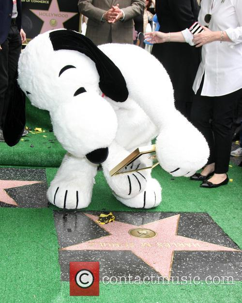 Snoopy With The Wof Star For Charles Schultz 2