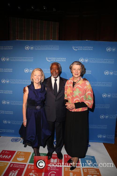 Kathy Calvin, Kofi Annan and Nane Annan 1