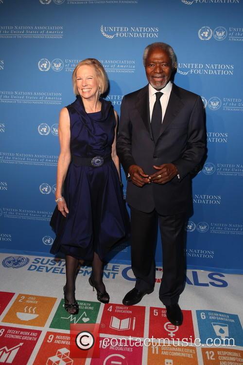 Kathy Calvin and Kofi Annan 2