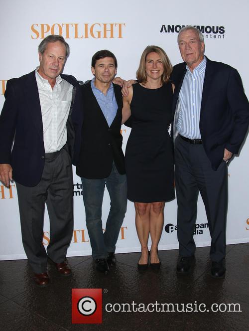 Ben Bradlee Jr., Michael Rezendes, Sacha Pfeiffer and Walter Robinson 1