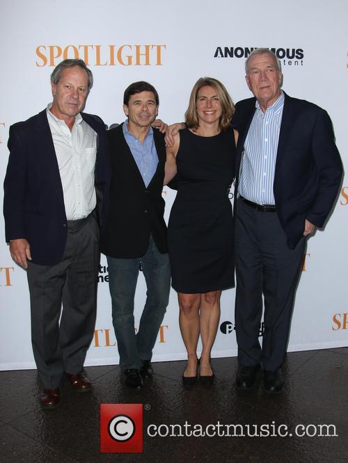 Ben Bradlee Jr., Michael Rezendes, Sacha Pfeiffer and Walter Robinson 2