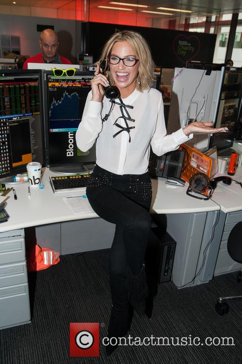 Sarah Harding and Bloomberg