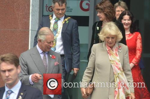 Prince Charles and Camilla, Duchess of Cornwall on...