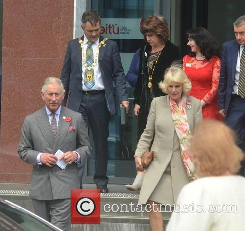 Dunedin Mayor Dave Cull, Wife Joan Wilson, Prince Charles, Camilla and Duchess Of Cornwall 2