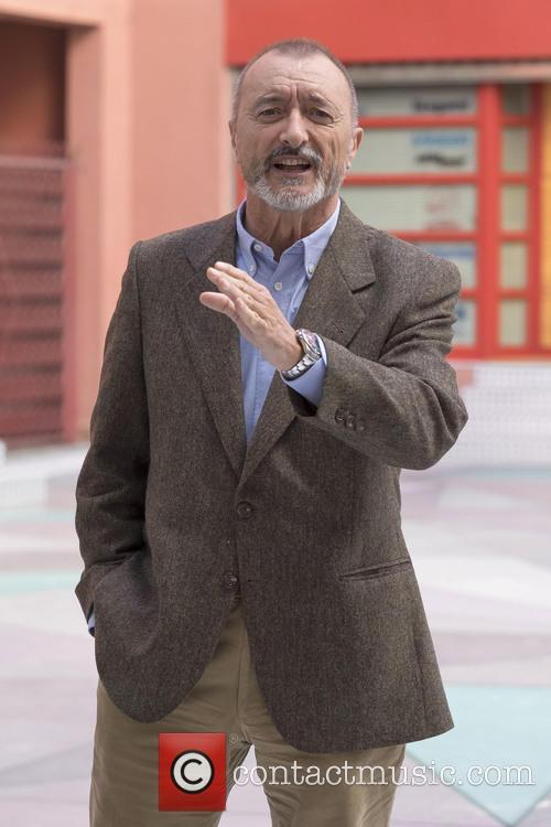 Arturo Pérez-Reverte attends a photocall for his latest...