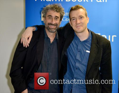 Author David Mitchell discusses and signs copies of...
