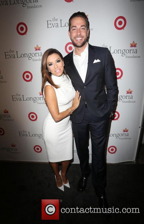 Eva Longoria and Zachary Levi