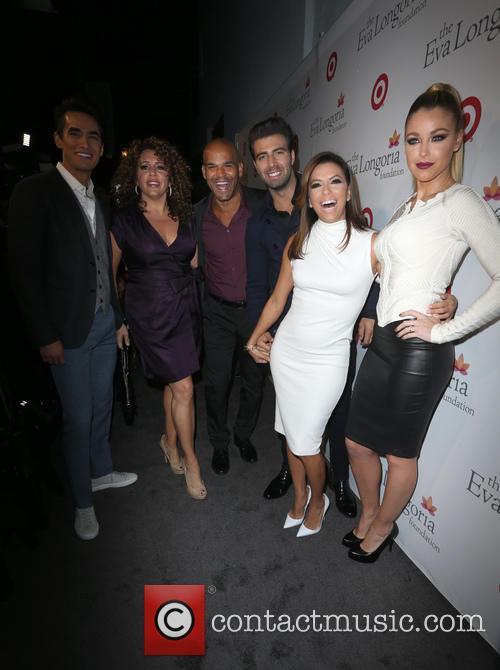 Jose Moreno Brooks, Amaury Nolasco, Jencarlos Canela, Eva Longoria and Jadyn Douglas 1