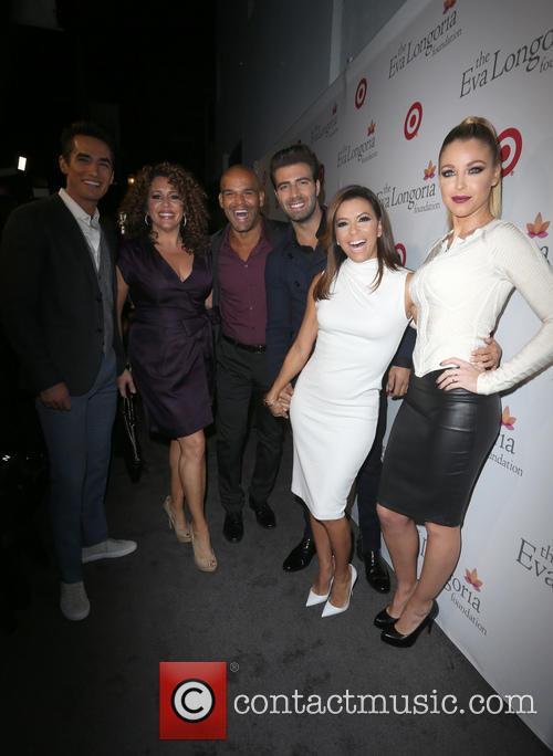 Jose Moreno Brooks, Amaury Nolasco, Jencarlos Canela, Eva Longoria and Jadyn Douglas 2