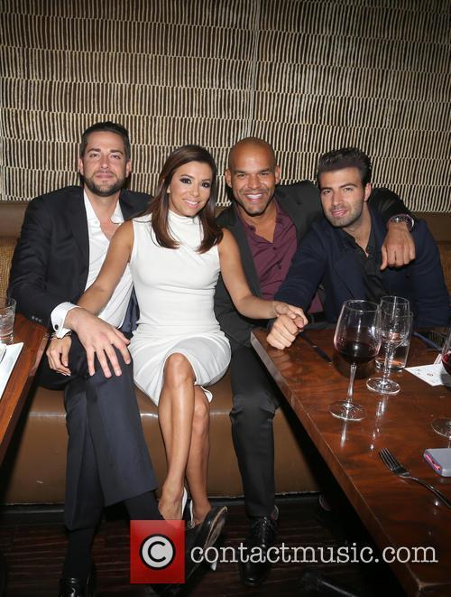 Zachary Levi, Eva Longoria, Amaury Nolasco and Jencarlos Canela 2