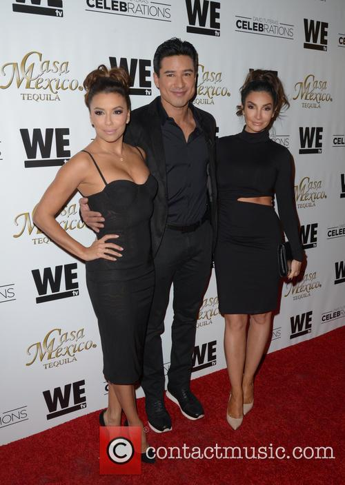 Eva Longoria, Mario Lopez and Courtney Mazza