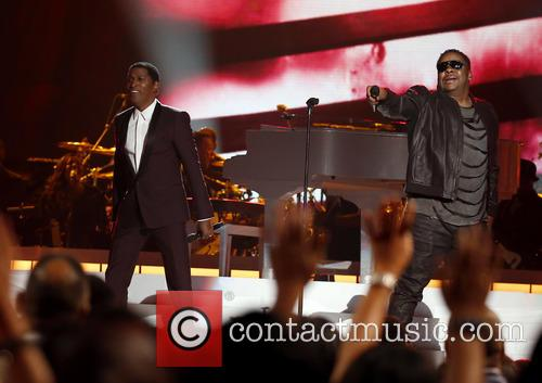 Kenny Baby Face Edmonds and Bobby Brown 8