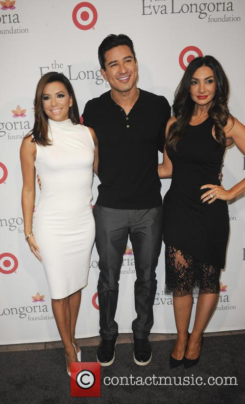 Eva Longoria, Mario Lopez and Courtney Lopez 7
