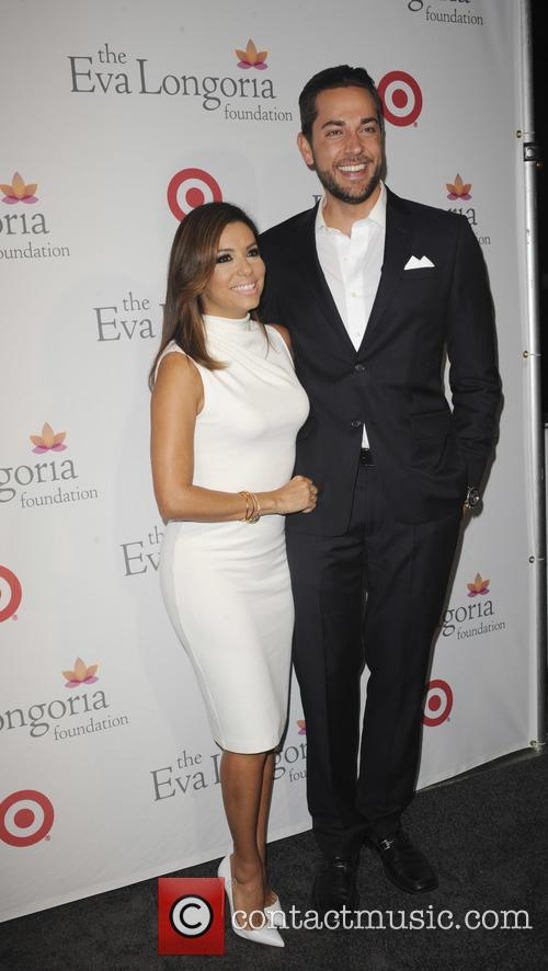 Eva Longoria and Zachary Levi 8