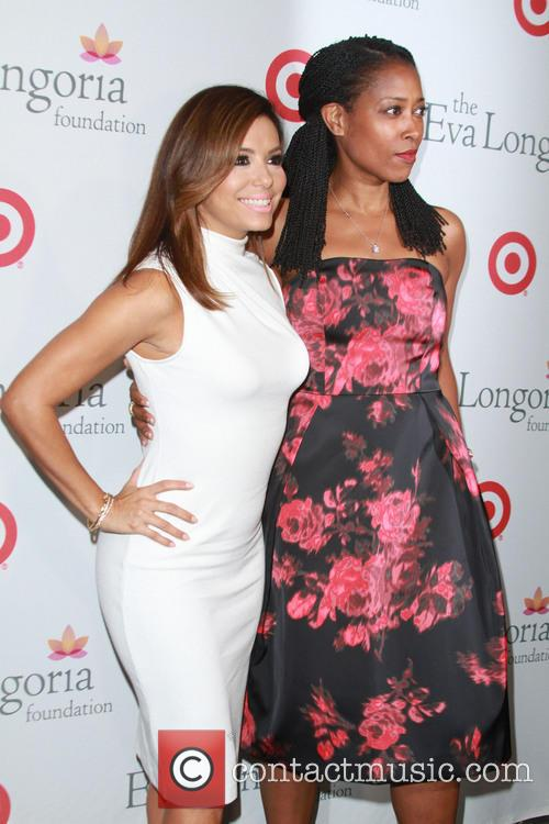 Eva Longoria and Laysha Ward 2