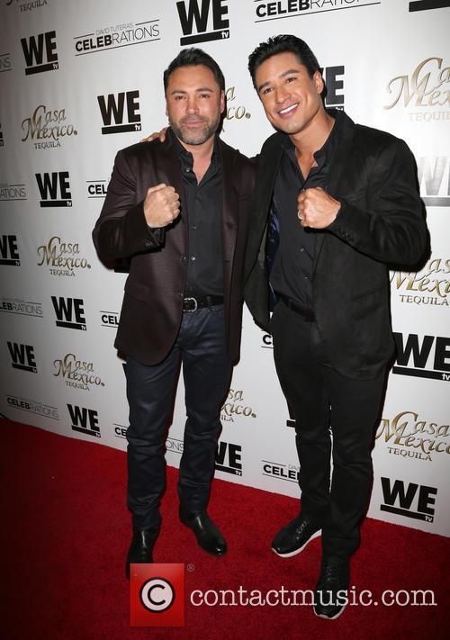 Oscar De La Hoya and Mario Lopez 4