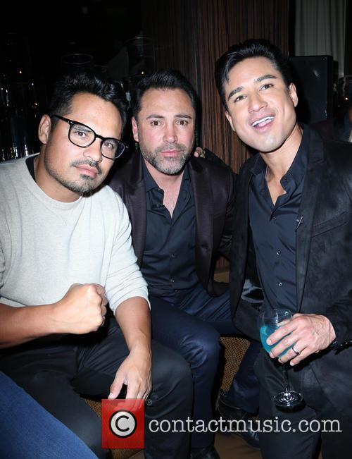 Michael Peña, Oscar De La Hoya and Mario Lopez 1