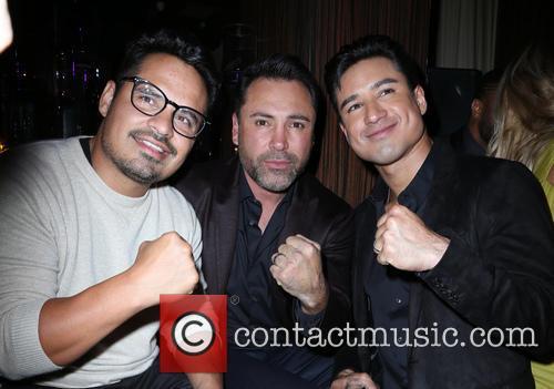Michael Peña, Oscar De La Hoya and Mario Lopez 3