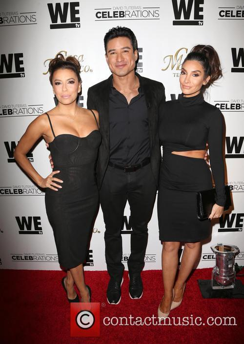 Eva Longoria, Mario Lopez and Courtney Mazza 11