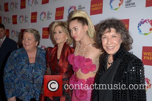 Lorri L. Jean, Jane Fonda, Miley Cyrus and Lily Tomlin