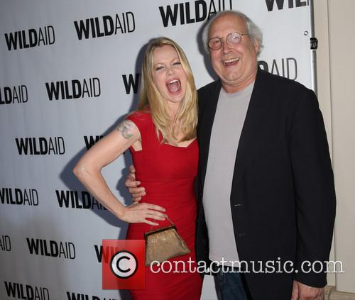 Kristin Bauer and Chevy Chase 3