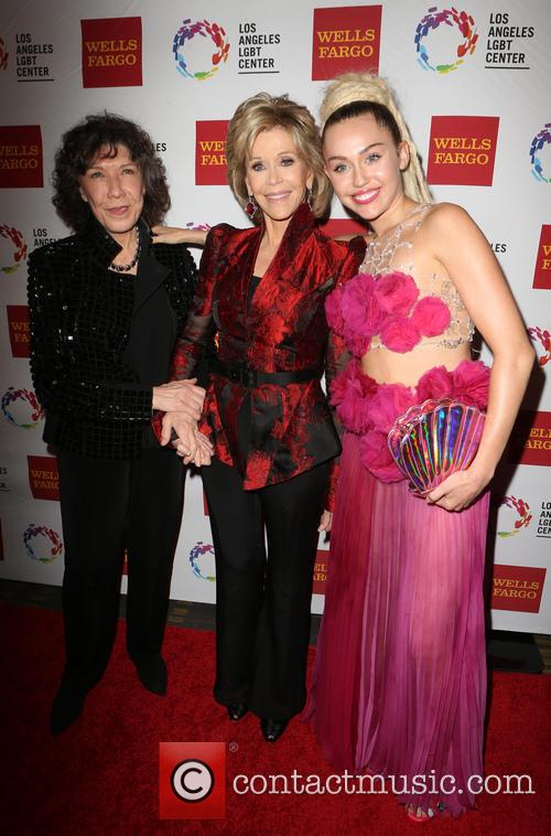 Lily Tomlin, Jane Fonda and Miley Cyrus 2