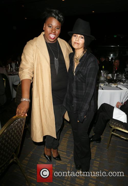 Alex Newell and Linda Perry 7