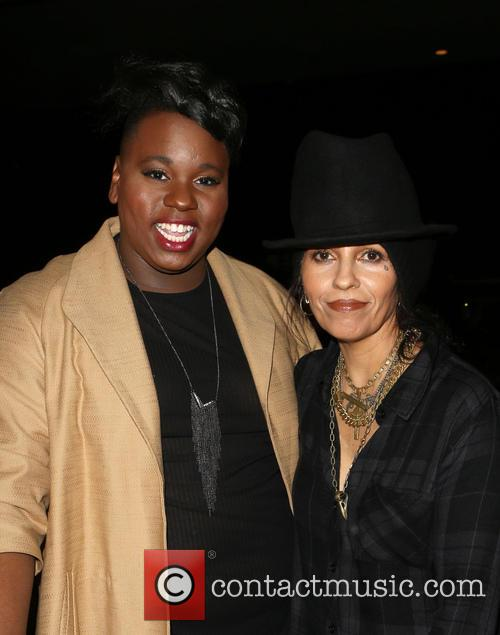 Alex Newell and Linda Perry 8