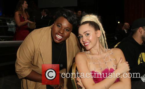 Miley Cyrus and Alex Newell 11