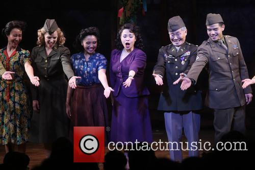 Katie Rose Clarke, Janelle Toyomi Dote, Lea Salonga, George Takei and Telly Leung 3