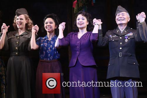 Katie Rose Clarke, Janelle Toyomi Dote, Lea Salonga and George Takei 4