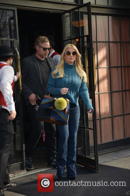Jessica Simpson and Eric Johnson leaving New York