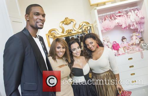 Dwyane Wade, Deborah, Cox, Adrienne Bosh, Amaris Jonesa and Chris Bosh 1