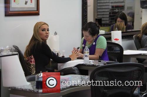 Maria Bastion at a nail salon