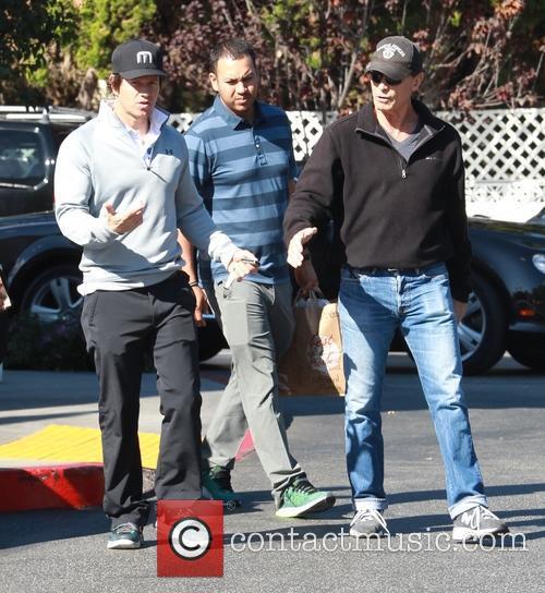 Mark Wahlberg leaving Bristol Farms