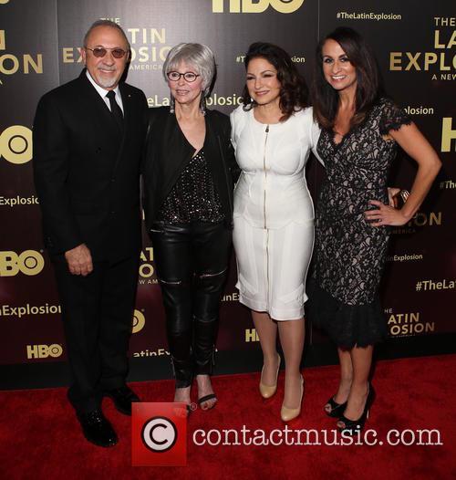 Emilio Estefan, Rita Moreno, Gloria Estefan and Audrey Puente 2