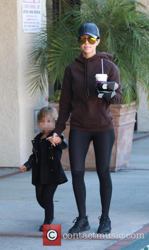 Kourtney Kardashian and Penelope Scotland Disick 2