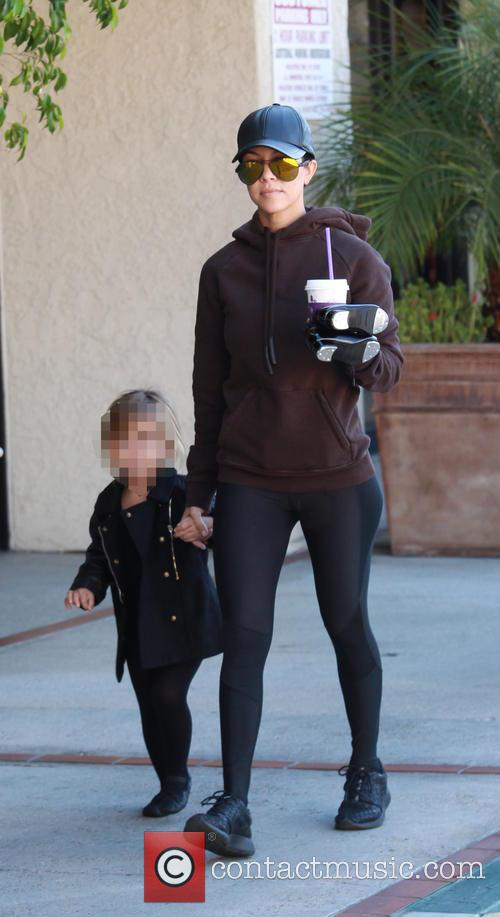 Kourtney Kardashian and Penelope Scotland Disick 3