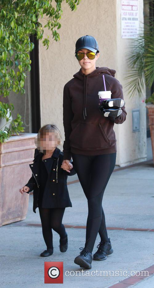 Kourtney Kardashian and Penelope Scotland Disick 4