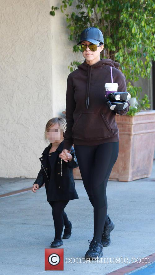 Kourtney Kardashian and Penelope Scotland Disick 5