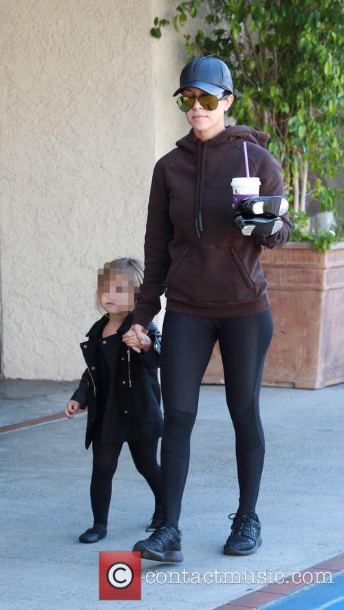 Kourtney Kardashian and Penelope Scotland Disick 6