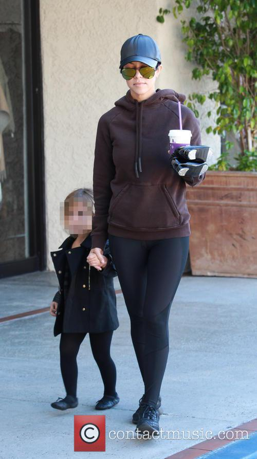 Kourtney Kardashian and Penelope Scotland Disick 7