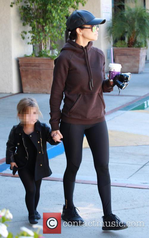 Kourtney Kardashian and Penelope Scotland Disick 9
