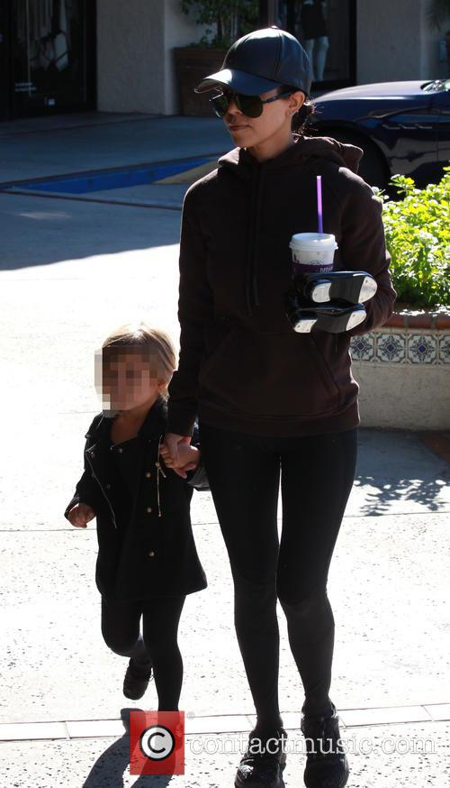 Kourtney Kardashian and Penelope Scotland Disick 11