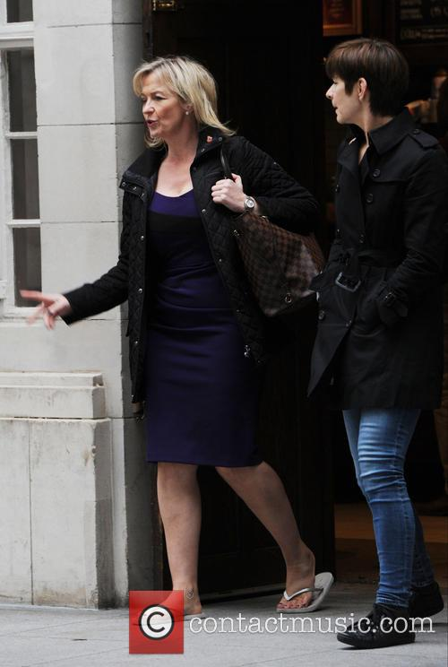 Carol Kirkwood out and about in London