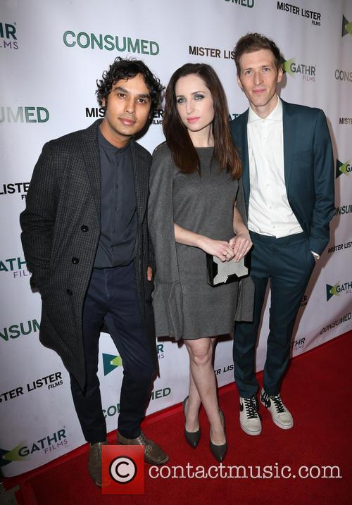 Kunal Nayyar, Zoe Lister-jones and Daryl Wein 6