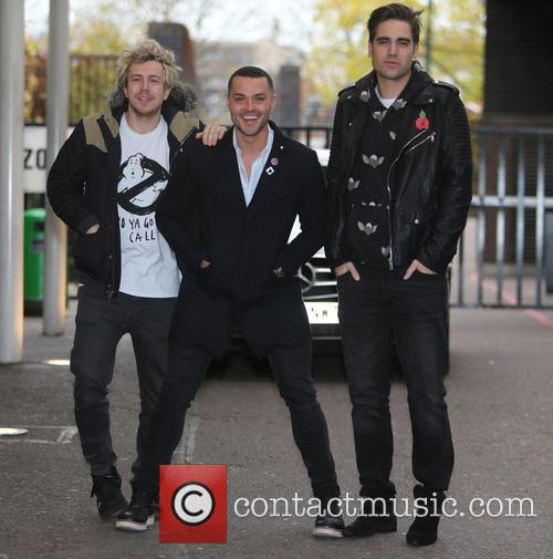 James Bourne, Matt Willis, Charlie Simpson and Busted 2
