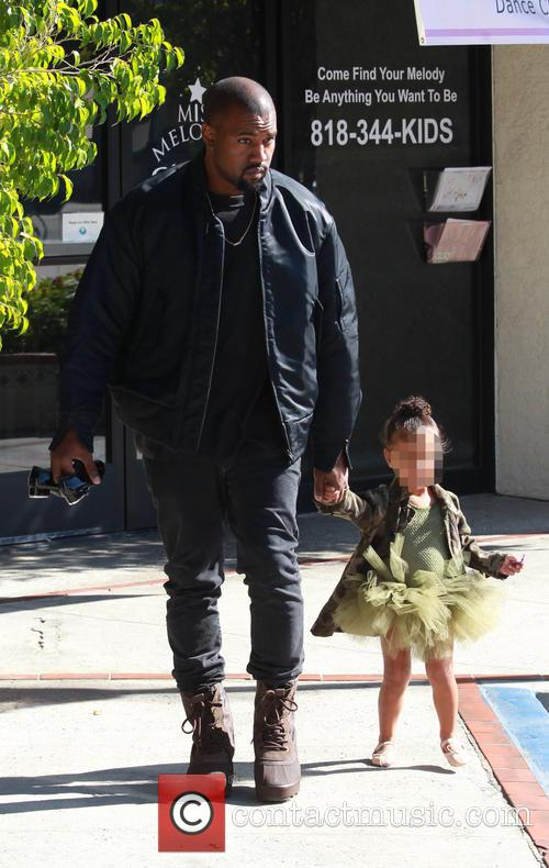 Kanye West and North West 2